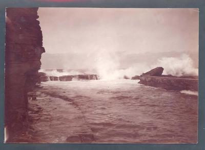 Photograph from Frank Laver's photograph album, travel scene c1905