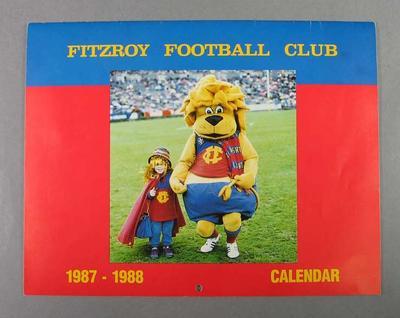 Fitzroy Football Club Calendar 1987-1988