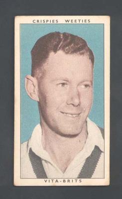 1948 Weeties Crispies Vita-Brits Leading Cricketers series William Brown trade card