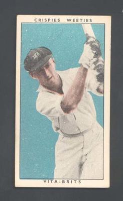 1948 Weeties Crispies Vita-Brits Leading Cricketers series Reginald Craig trade card
