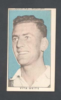 1948 Weeties Crispies Vita-Brits Leading Cricketers series Bruce Dooland trade card