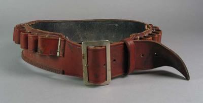 Leather belt, adapted as rifle belt