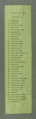 Team list, SBUC 11 July 1 c1949