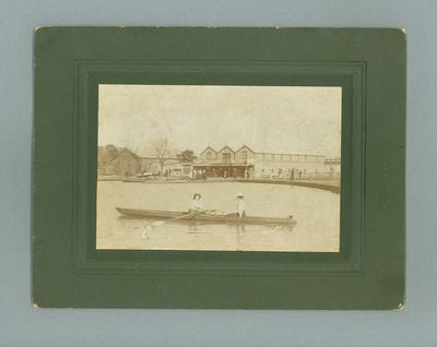 Photograph - 2 ladies rowing a scull, Albert Park Rowing Club 1910