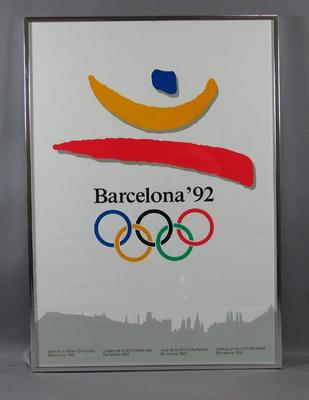 Poster for the 1992 Barcelona Olympic Games; Documents and books; Artwork; 2004.3945