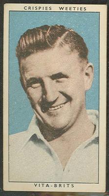 1948 Weeties Crispies Vita-Brits Leading Cricketers series Colin McCool trade card