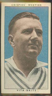 1948 Weeties Crispies Vita-Brits Leading Cricketers series Jack Moroney trade card