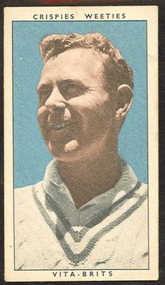 1948 Weeties Crispies Vita-Brits Leading Cricketers series Arthur Morris trade card