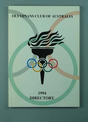 Booklet, Olympians Club of Australia - 1994 Directory