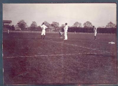 Photograph from Frank Laver's photograph album, game of baseball circa 1897