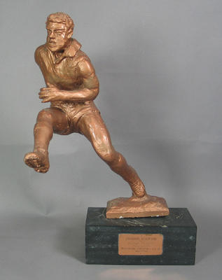 Sculpture of a footballer, by George Sheppard