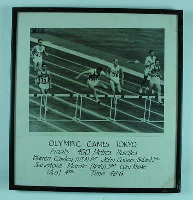 Photograph of men's 400m hurdles final, 1964 Olympic Games