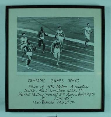 Photograph of men's 400m final, 1964 Olympic Games
