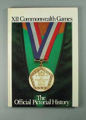 "Book, ""XII Commonwealth Games - The Official Pictorial History"""