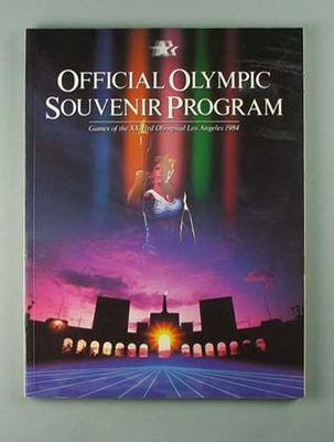 """Book, """"Official Olympic Souvenir Program - Games of the XXIII Olympiad"""""""