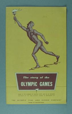 Advance souvenir booklet,  'The Story of the Olympic Games'.