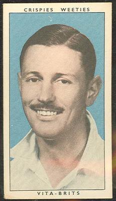 1948 Weeties Crispies Vita-Brits Leading Cricketers series Richard Niehuus trade card