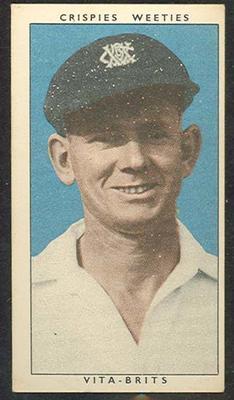1948 Weeties Crispies Vita-Brits Leading Cricketers series Charles Puckett trade card