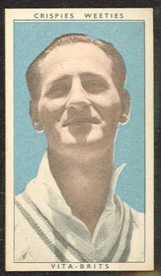 1948 Weeties Crispies Vita-Brits Leading Cricketers series Ronald Saggers trade card