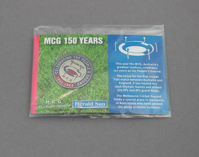 Commemorative medallion, MCG 150 years 1853-2003 - issued by the Herald Sun