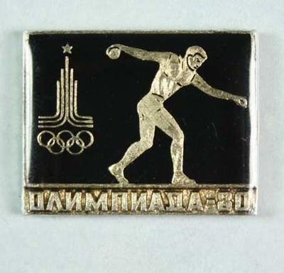 Badge, 1980 Olympic Games - Discus