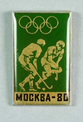Badge, 1980 Olympic Games - Field Hockey