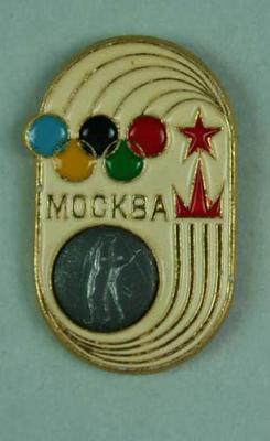 Badge, 1980 Olympic Games - Basketball