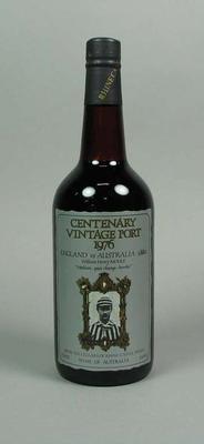 Centenary Vintage Port bottle, England v Australia 1880-1980; Domestic items; M10085.4