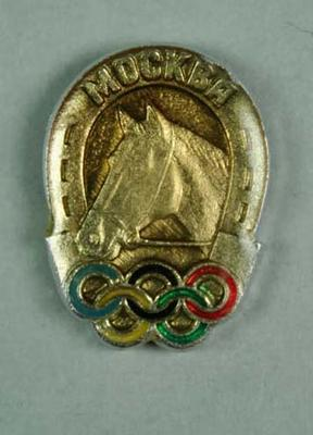 Badge, 1980 Olympic Games - Equestrian