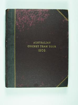 Scrap book compiled by Frank Laver, Australian Cricket Team Tour 1909