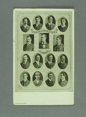 Postcard, featuring images of 1905 Australian Eleven