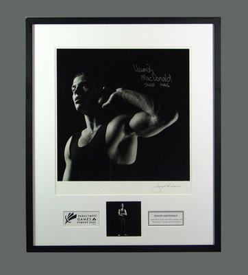 Framed photograph of Hamish MacDonald, 2000 Paralympic Games