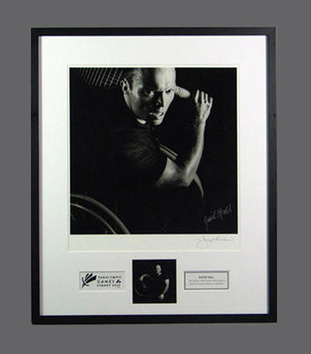 Framed photograph of David Hall, 2000 Paralympic Games