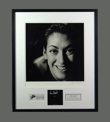 Framed photograph of Priya Cooper, 2000 Paralympic Games