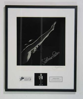 Framed photograph of Siobhan Paton, 2000 Paralympic Games