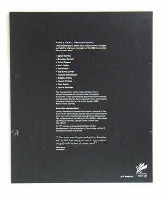 Text panel, 2000 Australian Paralympic Games Ambassadors photographic essay