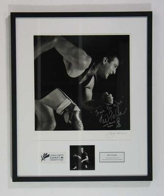 Framed photograph of Neil Fuller, 2000 Paralympic Games