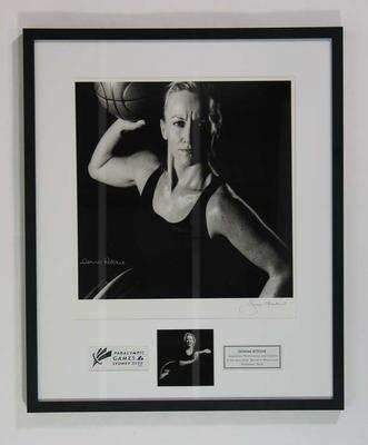 Framed photograph of Donna Ritchie, 2000 Paralympic Games