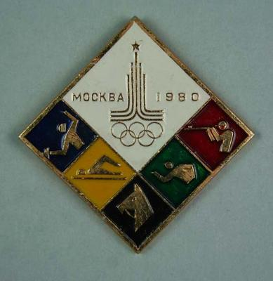 Badge, 1980 Olympic Games - Modern Pentathlon