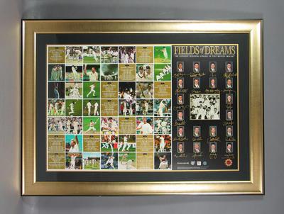 """Print, """"Fields of Dreams - The Longest Winning Streak in Test Match Cricket"""""""