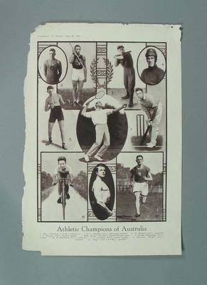 """Magazine clipping, Pals """"Athletic Champions of Australia"""" - 26 July 1924"""