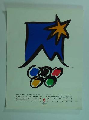 Poster, 1992 Albertville Olympic Games