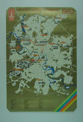 Poster, 1980 Moscow Olympic Games