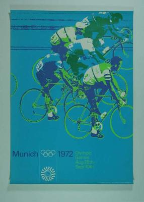 Poster, 1972 Munich Olympic Games - Cycling