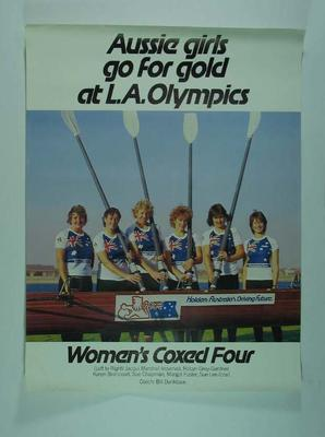 Poster, 1984 Los Angeles Olympic Games - Australian women's coxed four