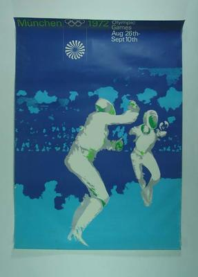 Poster, 1972 Munich Olympic Games - fencing