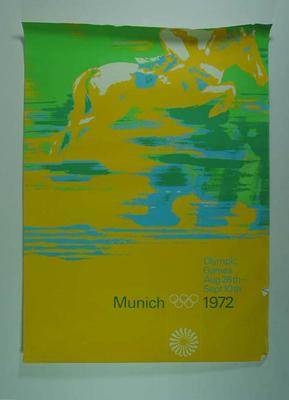 Poster, 1972 Munich Olympic Games - equestrian