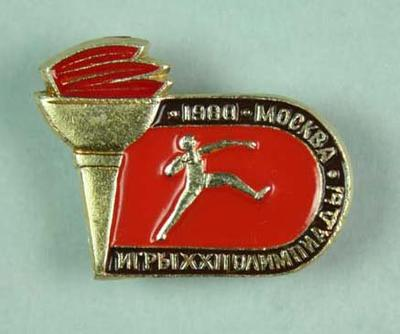 Badge, 1980 Olympic Games - Shot Put