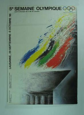 Poster, Olympic Week 1986; Documents and books; 2004.3992.39