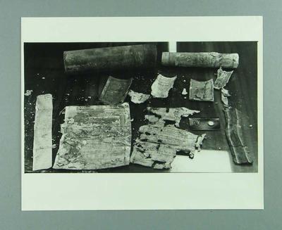 Photograph, 1928 MCC time capsule contents